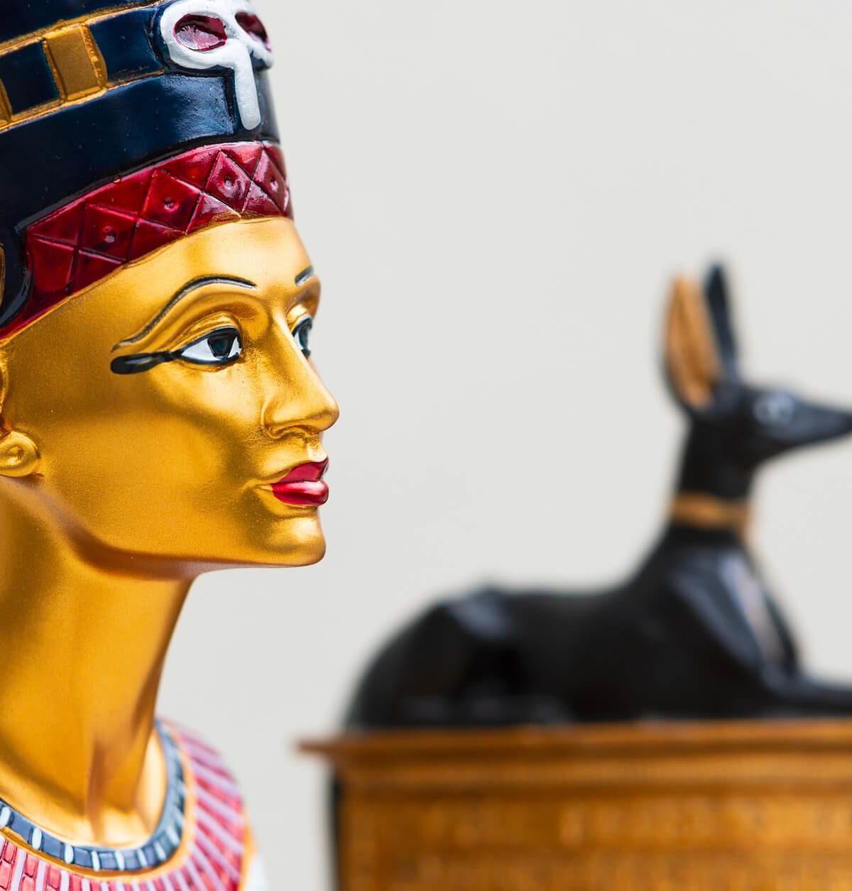 evolución del maquillaje. maquillaje antiguo egipto